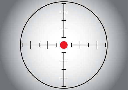 Gray sniper target. Vector illustration. Illustration