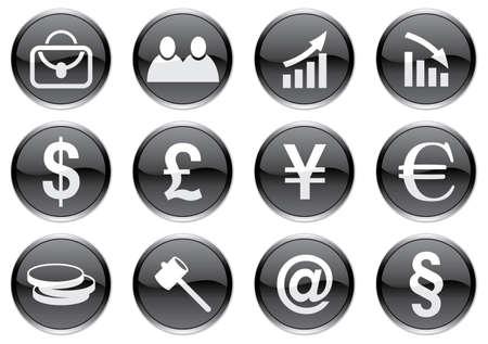 Gadget icons set. White - black palette. Vector illustration. Stock Vector - 3734569
