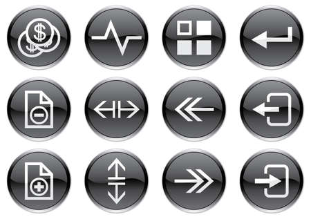 Gadget icons set. White - black palette. Vector illustration. Stock Vector - 3734562