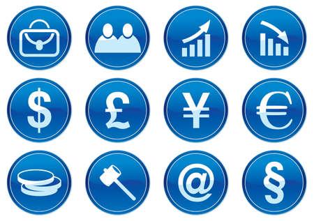 Gadget icons set. White - dark blue palette. Vector illustration. Stock Vector - 3784751