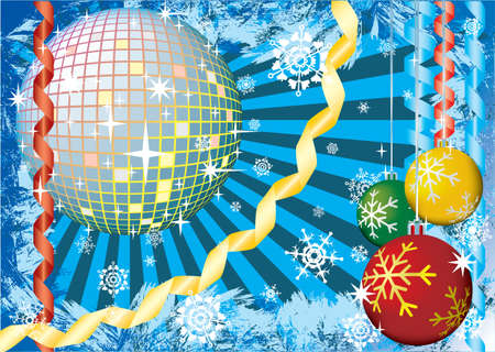 To give a christmass snow party. Greeting card. Multicolor palette. Vector illustration. Stock Illustration - 3814292