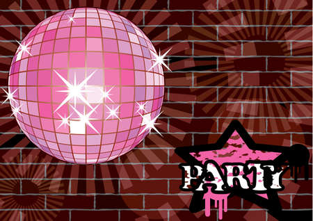 To give a urban party. Card. Vector illustration.