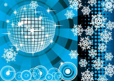 winter party: Per dare un inverno partito azzurro. Card. Illustrazione vettoriale.