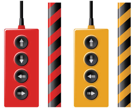 Elevator remote control and protection ribbon. Vector illustration. Isolated on white background. Stock Vector - 3821134