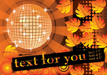 To give a orange autumn party. Card for you text. Vector illustration. Vector