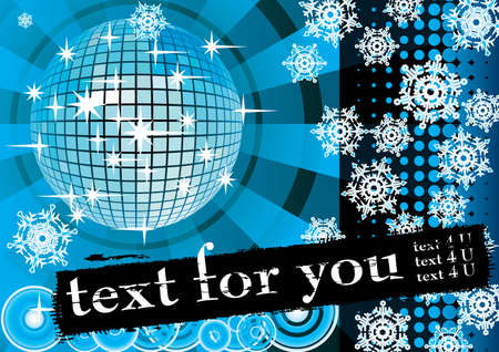 To give a blue winter party. Card for you text. Vector illustration. Vector