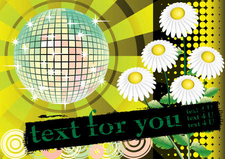 To give a yellow summer party. Card for you text. Vector illustration. Vector