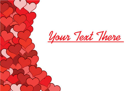 Valentines background for sample text. Greeting card. Vector illustration. Vector