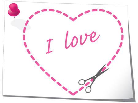 Valentine greeting card. Vector illustration. Vector