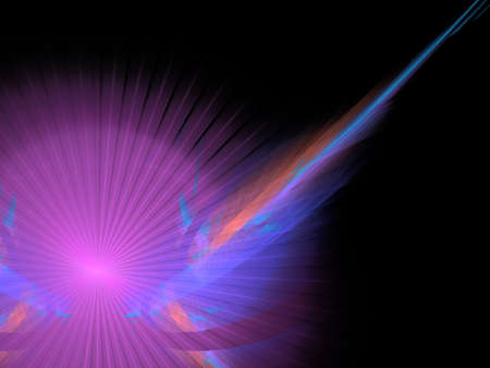 Abstract background. Purple - blue palette. Raster fractal graphics. photo