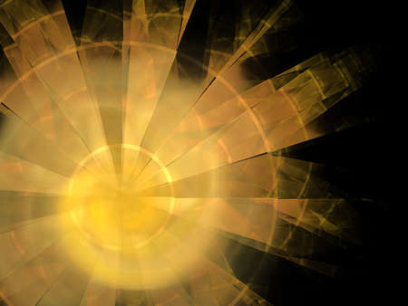 Abstract background. Yellow - orange palette. Raster fractal graphics. photo