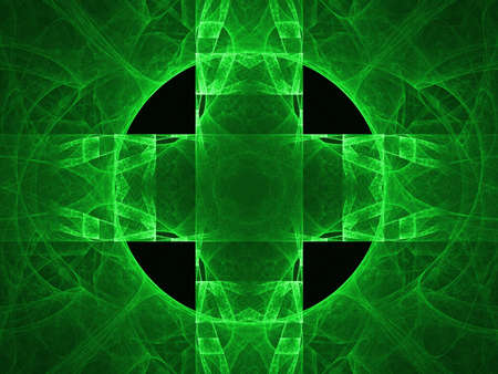 Abstract background. Green palette. Raster fractal graphics. photo