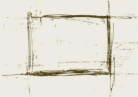 graffiti brown: Resumen de antecedentes grunge. La luz y de color marr�n oscuro marco. Ilustraci�n vectorial. Vectores