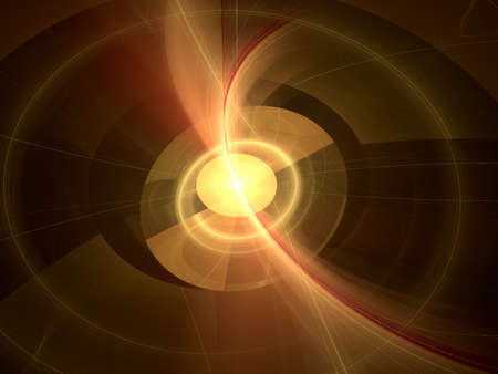 Abstract background. Orange - yellow palette. Raster fractal graphics. photo