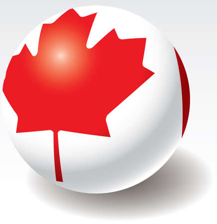 Canada flag texture on ball. Design element. Vector illustration. Illustration