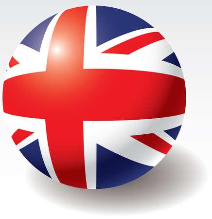 United Kingdom flag texture on ball. Design element. Vector illustration. Stock Vector - 4525794