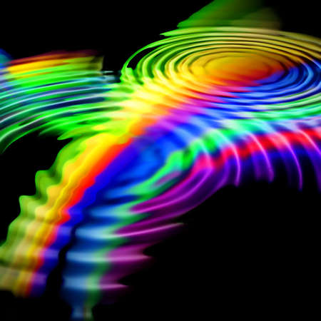 raibow: Abstract background. Multicolor palette. Raster fractal graphics. Stock Photo