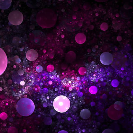Abstract background. Purple - black palette. Raster fractal graphics.