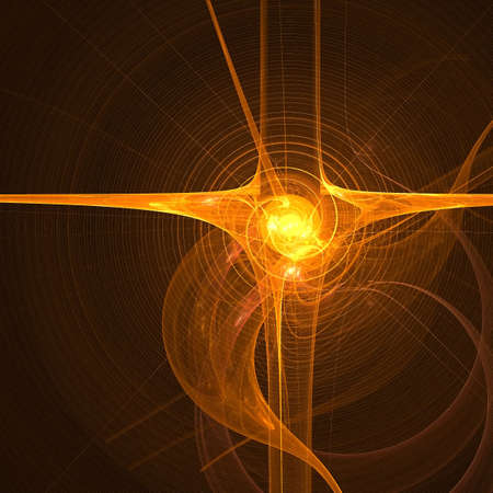 Abstract background. Orange - yellow palette. Raster fractal graphics. Stock Photo - 4604521
