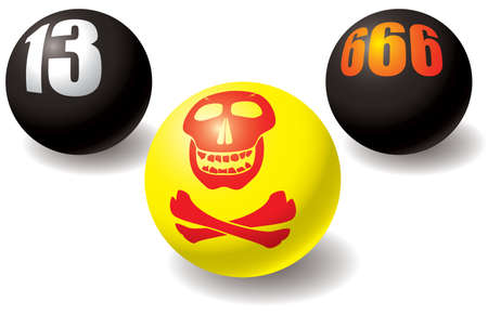 Paranormal set of balls. Design elements. Vector illustration. Stock Vector - 4627928