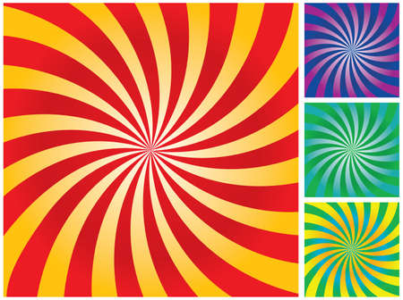 variants: Abstract rays gradient background. Vector illustration for you design. Variants.