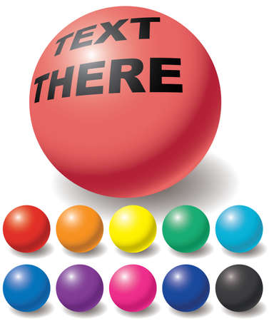red sphere: Set di sfere di colore libero. Elementi di design. Vector illustration.
