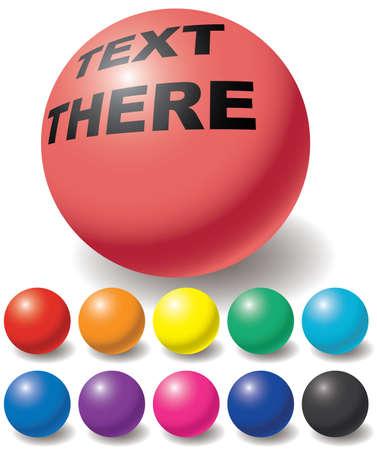 red sphere: Set of free color balls. Design elements. Vector illustration. Illustration