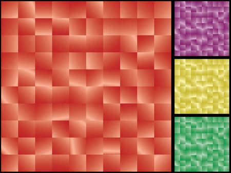 Abstract red tiles seamless background. Vector illustration for you design. Added purple, green and yellow variants. Vector