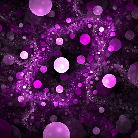 purple swirls: Abstract background. Purple - black palette. Raster fractal graphics.