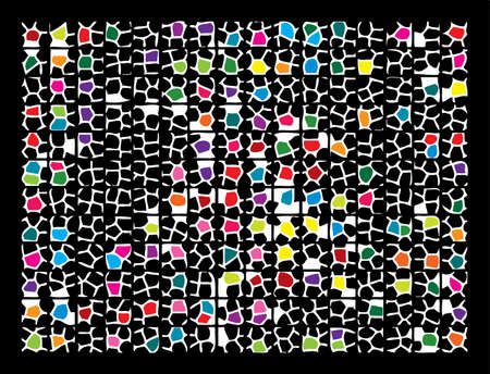 Abstract mosaic background. Vector illustration. Stock Vector - 4948453