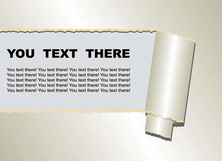 ripped paper: Ripped paper with for you text frame. Vector illustration.