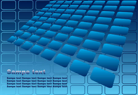 Abstract blue tiles background. Vector illustration. Vector