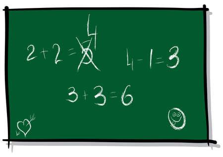 simulate: School board. Sketch simulate. Vector illustration. Illustration