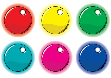 Set of colored circle labels for your design. Vector illustration. Vector