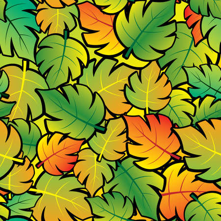 Leaf abstract background. Seamless. Vector illustration. Stock Vector - 5101145