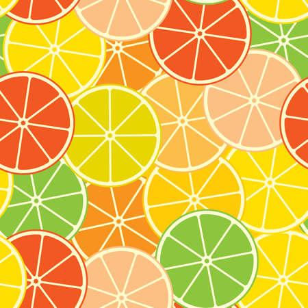 limon: Abstract citrus background. Seamless. Vector illustration. Illustration