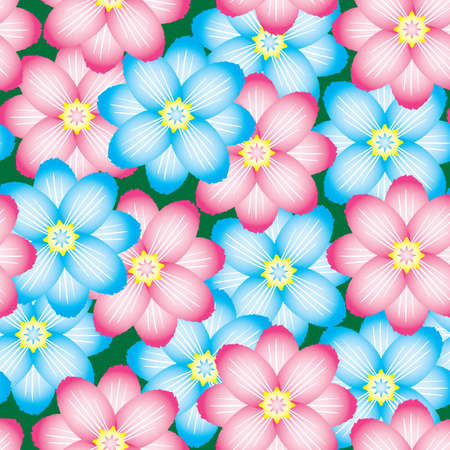 Abstract flowers background. Seamless. Vector illustration. Vector