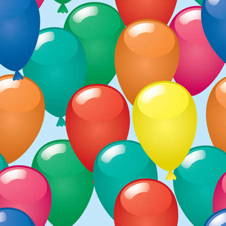 Abstract balloons background. Seamless. Vector illustration. Vector