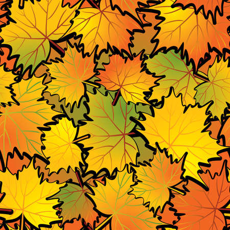 Maple leaf abstract background. Seamless. Vector illustration. Vector
