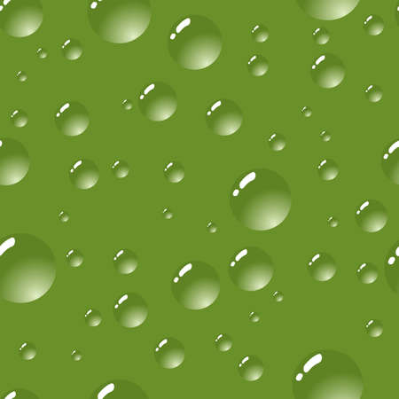 Abstract bubbles background. Green palette. Seamless. Vector illustration. Vector