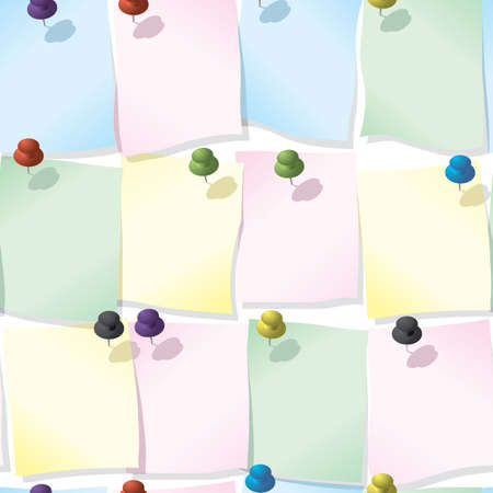 Abstract reminder sheets background. Seamless. Pastel palette.Vector illustration. Vector