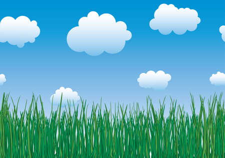 grass border: Abstract background. Horizontal seamless border. Vector illustration. Illustration