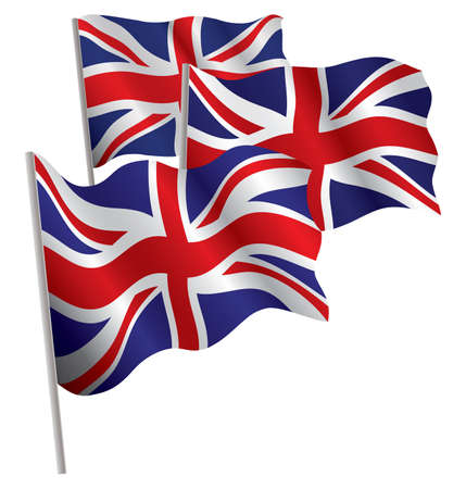 United Kingdom 3d flag. Vector illustration. Isolated on white. Stock Vector - 5167652