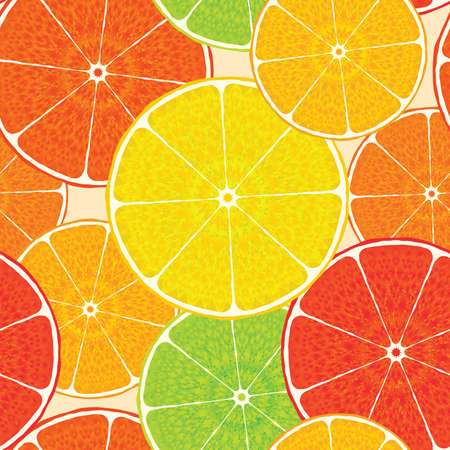 frame less: Abstract citrus high-detailed background. Seamless. Vector illustration for your design.