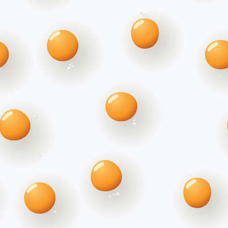 Abstract fried-eggs background. Seamless. Light gray - orange palette. Vector illustration. Vector