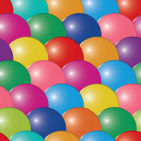 frame less: Abstract bubbles multicolor background. Seamless. Vector illustration.