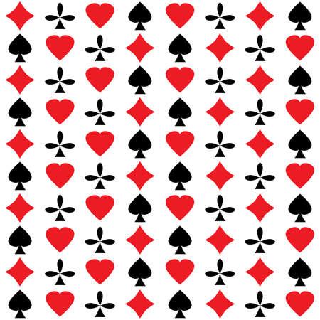 lasvegas: Leisure card symbols. Seamless abstract pattern. Vector illustration.