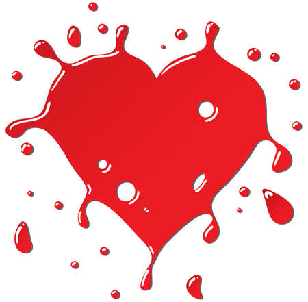 Heart as red drops form. Vector illustration for your design. Vector