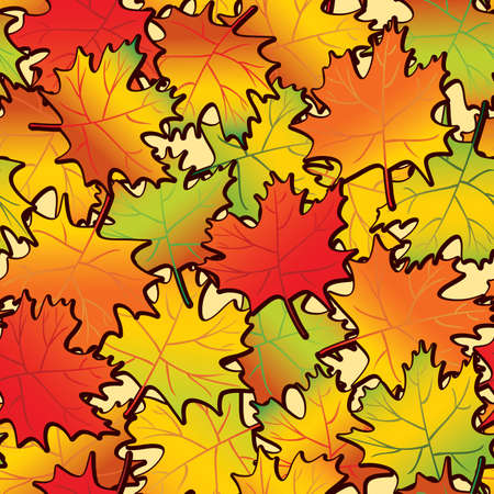 Maple leaf abstract background. Seamless. Vector illustration. Stock Vector - 5233216