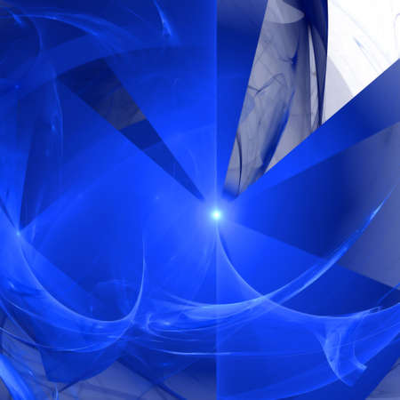 Abstract background. Blue - white palette. Raster fractal graphics. photo